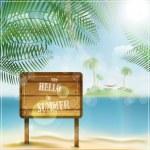 Say hello to summer — Stock Vector #27724739