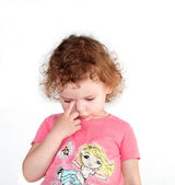 Little sad girl — Stock Photo