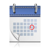 Realistic Detailed Calendar Icon — Stock Vector
