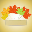 Colorful autumn leaves with place for your text — Stock Vector