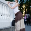 Girl in a long skirt — Stock Photo