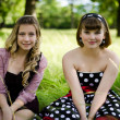 Royalty-Free Stock Photo: Girls in a park