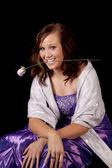 роуз фиолетовый платье — Стоковое фото