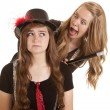Teen girls funny face — Stock Photo