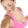 Looking at mud on shoulder — Stock Photo #12803432