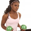 Green balls weights — Stock Photo #13743967