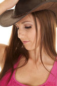 Hat pink close up — Stock Photo