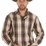 Cowboy hold belt black hat — Stock Photo #16555783
