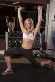 女性リフト ホワイト スポーツブラ — ストック写真