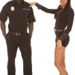 Man and woman cop she flirting — Stock Photo #27955869