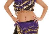 Belly dancer mid hands hips — Stock Photo