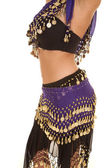 Belly dancer mid side view — Stock Photo