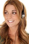 Close up head phones — Stock Photo