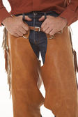 Chaps close hands loops — Stock Photo