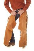 Chaps hands in belt loops — Stock Photo