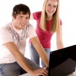 Couple working on the computer — Stock Photo #29558359