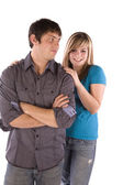 Teen boy standing with his girlfriend — Stock Photo