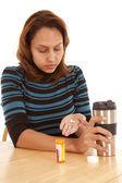 Comprimidos na mão — Fotografia Stock
