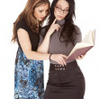 Two women reading — Stock Photo