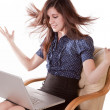 Woman with laptop — Stock Photo #29582575