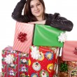 Happy with gifts — Stockfoto