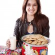 Presents cookies — Stock Photo