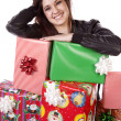 Stock Photo: Stack of gifts