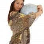 Hippy holding globe — Stock Photo #29584435