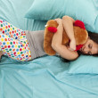 Stock Photo: Pajamas bear bed sleep