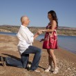 Propose on beach — Stock Photo