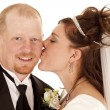 Bride kiss — Stock Photo