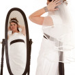 Bride mirror — Stock Photo