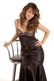 Sit chair dress — Stock Photo