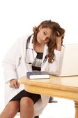 Tired doctor — Stockfoto