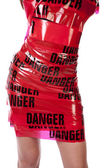 Woman body danger — Stock Photo