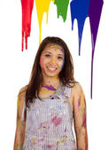 Dripping paint smile — Stock Photo