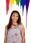 Sorriso de pintura do gotejamento — Foto Stock