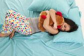 Pajamas bear bed sleep — Stock Photo
