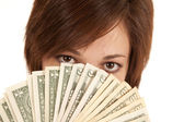 Greed money eyes — Stock Photo