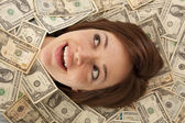 Smile out of money — Stock Photo