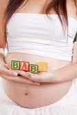 怀孕块宝宝 — 图库照片