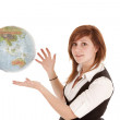 Hands out globe — Stock Photo #29590129