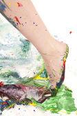 Pintura ambulante — Foto Stock