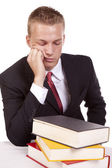 Man not wanting to study — Stock Photo