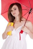 Kniha deštník — Stock fotografie