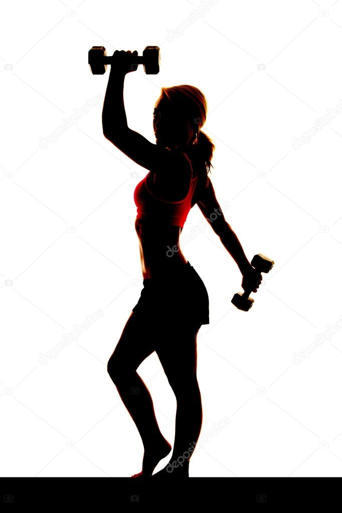 The gallery for --> Female Weightlifting Silhouette