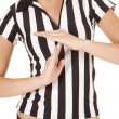 Stock Photo: Referee body time out