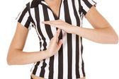 Referee body time out — Stock Photo