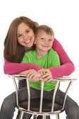 Girl and young boy smile — Stock Photo