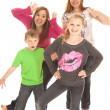Kids standing posing funny — Stock Photo
